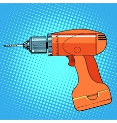 work tool drill screwdriver vector image