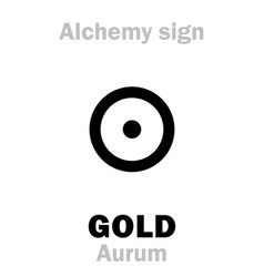 alchemy gold aurum vector image vector image