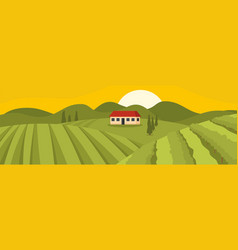 field banner flat style vector image