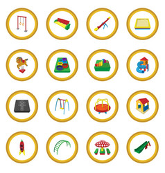 playground cartoon icon circle vector image vector image