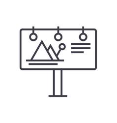 billboardadvertising line icon sign vector image vector image