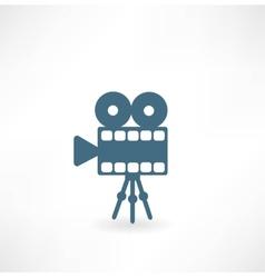 Cinema camera icon vector image vector image