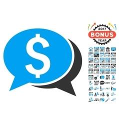 Financial chat icon with 2017 year bonus symbols vector