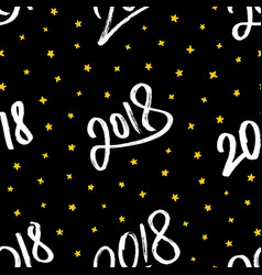 happy new year 2018 seamless pattern vector image