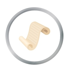 Paper scroll icon in cartoon style isolated on vector image