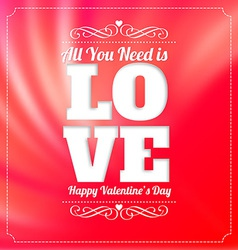Valentines day party poster vector