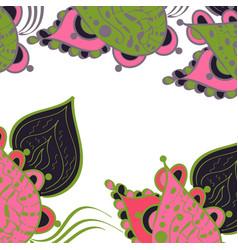floral frame zentangle vector image vector image