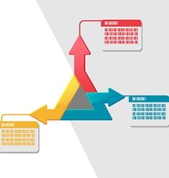 Triangle Info Graphic Template Presentation vector image