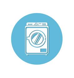 washing machine isolated icon vector image