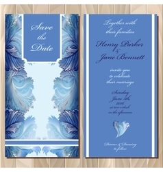 Winter frozen glass design Wedding invitation vector image