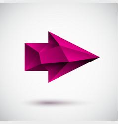 3d magenta right arrow vector
