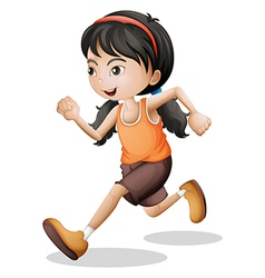 A teenager jogging vector image