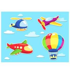 Air transportation cartoon vector