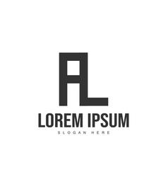 al logo template design initial letter logo design vector image