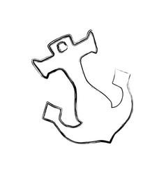 Anchor nautical object vector