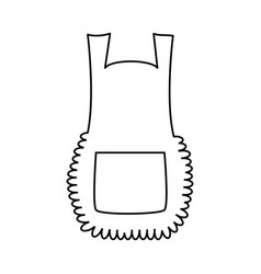 apron cartoon pinafore outline isolated on white vector image