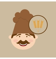 baker holding wheat vector image