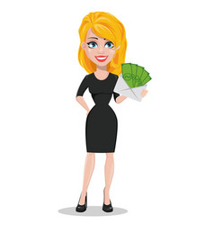 Beautiful business woman vector