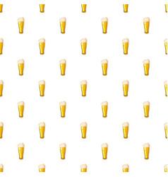 beer glass pattern vector image