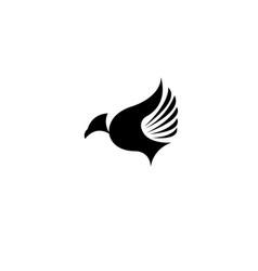 Bird fly creative logo modern simple editable vector