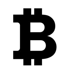 Bitcon sign icon black vector