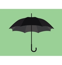 black umbrella object isolated with green vector image