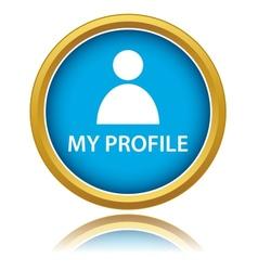Blue profile icon vector