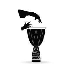 bongo black and white vector image