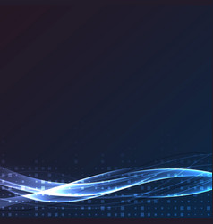 Bright swoosh speed abstract wave layout vector