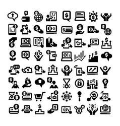 Business icons big set vector