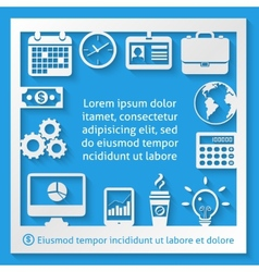 Business paper frame vector