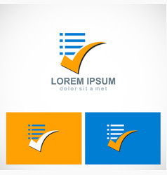 check list document logo vector image