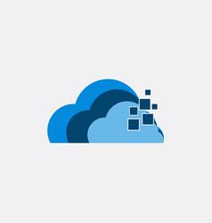 cloud tech business logo vector image
