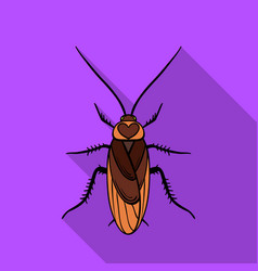 cockroach icon in flat style isolated on white vector image