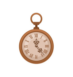 Colden vintage pocket watch on vector
