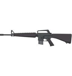 Colt model m16-a1 assault rifle vector