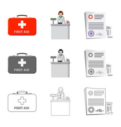 Design of pharmacy and hospital logo vector