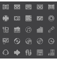 DJ icons or logo elements vector