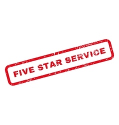 Five Star Service Text Rubber Stamp vector