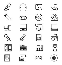 Gadgets Line Icons 1 vector
