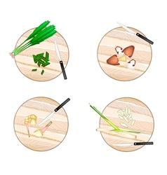 Galangal Lemon Grass Straw MushroomsCulantro vector