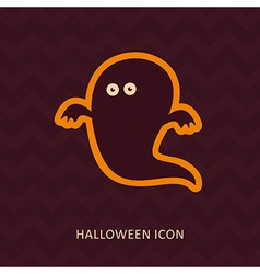 Halloween Ghost silhouette icon vector image