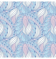 Hand drawn swirl fashion seamless pattern Doodle vector