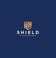 Hh letter shield icon vector