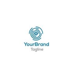 key digital system logo template vector image