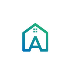 Letter a architect home construction creative vector
