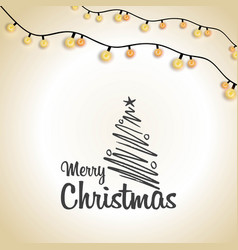 merry christmas creative typography lighting vector image