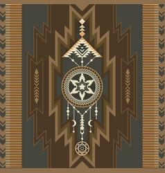 Native southwest american aztec navajo print vector