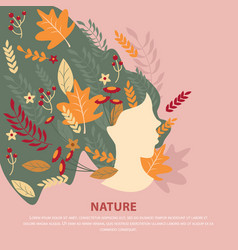 Nature girl flat composition vector