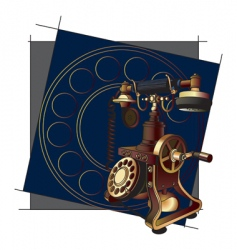 old style telephone background vector image
